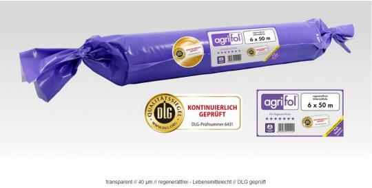 agrifol® Unterziehfolie 18 m Breite 40 my - regeneratfrei