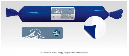 White & Virgin, 160my 18 Mon. UV frei, 16 m Breite - regeneratfrei blau/weiß